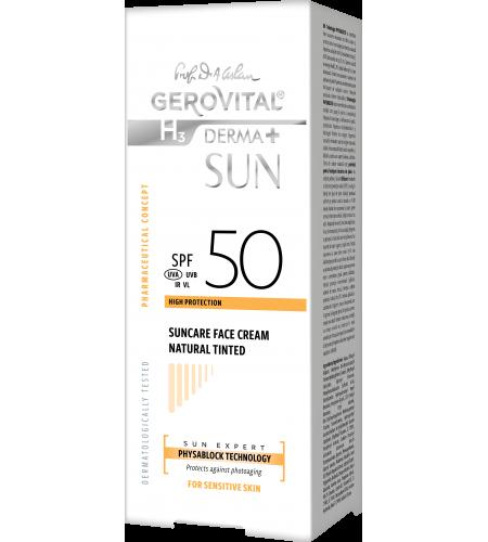 Αντηλιακή Αντιγηραντική κρέμα προσώπου SPF 50 Natural Color